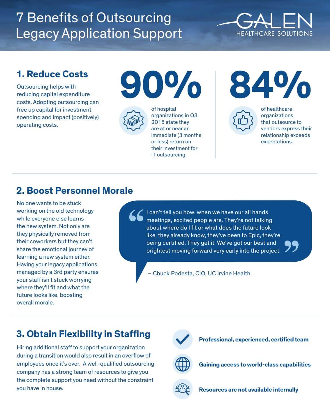 Outsourcing Legacy Application Management & Support Benefits Infographic