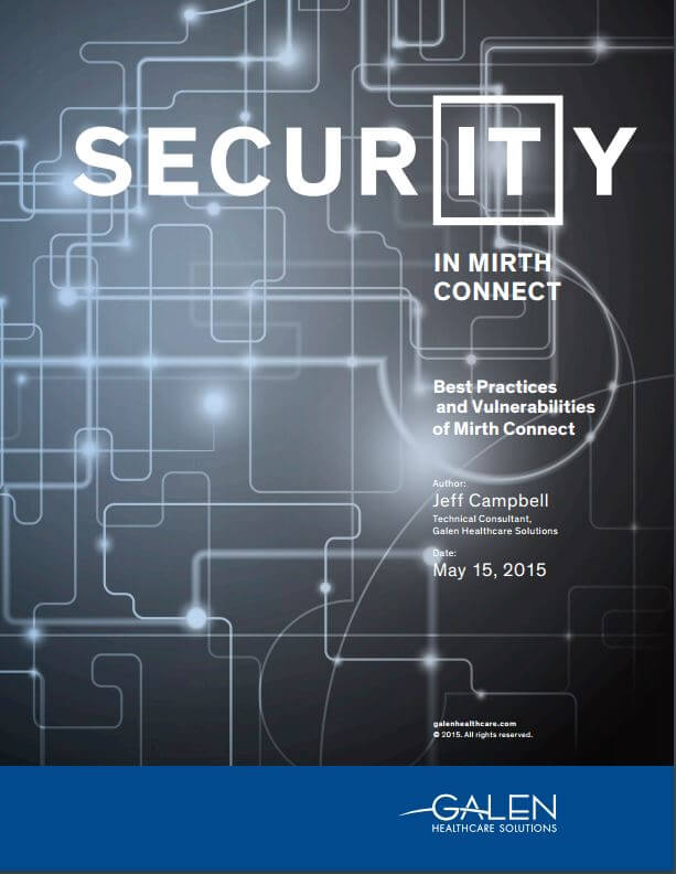Security in Mirth Connect
