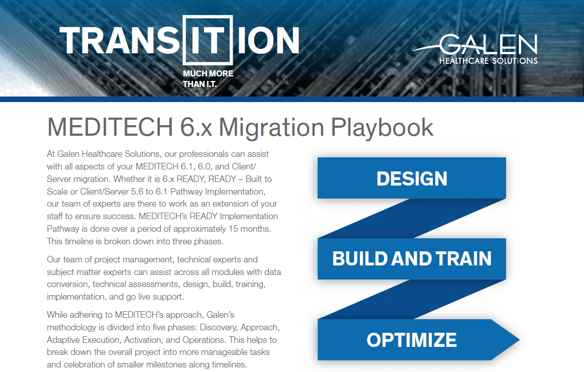 MEDITECH 6.0 Migration Playbook